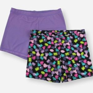 Other - Lot of 2 Girls Stretch Dance Shorts, Size XL